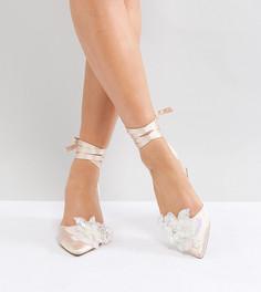 Туфли для широкой стопы на среднем каблуке с отделкой ASOS WONDERLUST - Бежевый