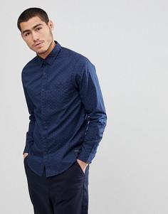 Темно-синяя рубашка с принтом Esprit - Синий