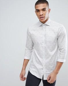 Приталенная рубашка с принтом пейсли Esprit - Белый