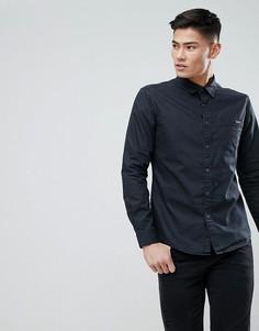 Черная джинсовая рубашка с покрытием Esprit - Черный