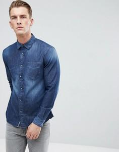 Выбеленная джинсовая рубашка Esprit - Синий