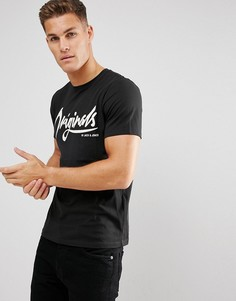 Футболка с принтом Jack & Jones Originals - Черный