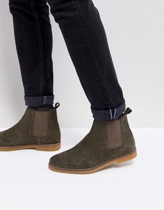Замшевые ботинки челси Base London Ferdinand - Зеленый