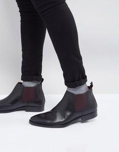 Кожаные ботинки челси Base London Ramson - Черный
