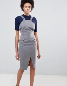 Платье-футляр с разрезом Unique21 - Серый