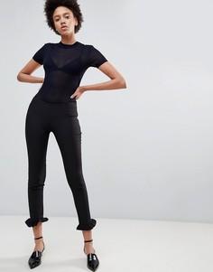 Строгие брюки с оборками Unique21 - Черный