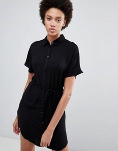 Платье-рубашка с поясом Unique21 - Черный