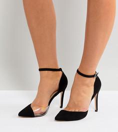 Виниловые туфли-лодочки для широкой стопы Truffle Collection - Черный