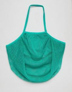 Сумка-шоппер из веревки ASOS BEACH - Синий