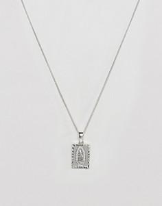Серебристое ожерелье с Марией Гваделупской на подвеске Chained & Able - Серебряный