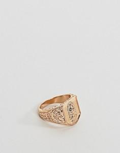 Кольцо-печатка Chained & Able Guadalupe - Золотой