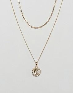 Набор золотистых ожерелий с распятием Chained & Able эксклюзивно для ASOS - Золотой