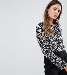 Блузка с цветочным принтом Y.A.S Tall Sunia - Коричневый