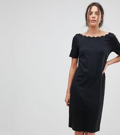 Свободное платье с фактурной отделкой Y.A.S Tall - Черный