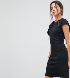 Платье с оборками Y.A.S Tall Sukulay - Черный