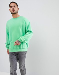 Салатовый свитшот oversize от ASOS - Зеленый