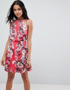 Платье мини с цветочным принтом ASOS - Мульти
