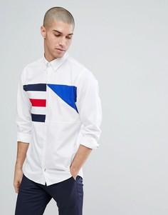 Белая рубашка классического кроя с логотипом-флажком Tommy Hilfiger - Белый