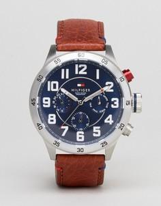 Часы с коричневым кожаным ремешком Tommy Hilfiger 1791066 Trent - Коричневый