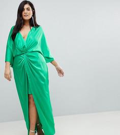 Платье-кимоно макси ASOS CURVE - Серый