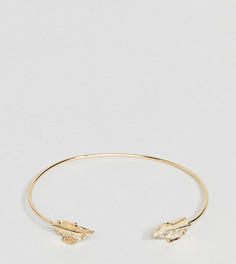 Браслет-манжета с листиками ASOS CURVE - Золотой