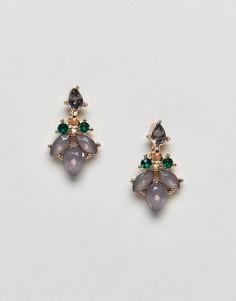 Серьги-гвоздики с камнями ASOS - Золотой