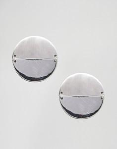 Серьги-гвоздики ASOS - Серебряный