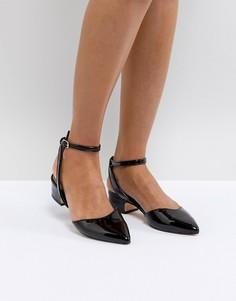 Черные туфли с острым носком на невысоком каблуке ALDO Zewiel - Черный