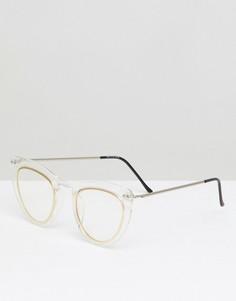 Очки кошачий глаз с прозрачными стеклами Spitfire - Очистить