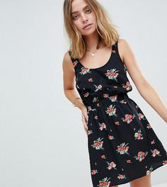 Платье мини с цветочным принтом ASOS PETITE - Мульти