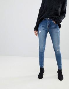 Прямые джинсы с отделкой Pimkie - Синий