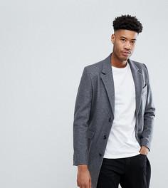 Светло-серое пальто с добавлением шерсти ASOS TALL - Серый