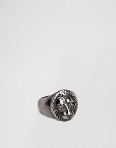 Серебристое кольцо со львом Simon Carter - Серебряный
