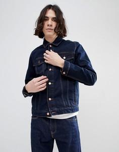 Джинсовая куртка цвета индиго ASOS - Синий