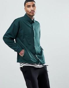 Спортивная оверсайз-куртка в стиле ретро ASOS - Зеленый