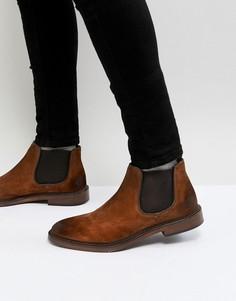 Светло-коричневые замшевые ботинки челси Walk London Darcy - Рыжий