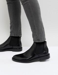 Черные кожаные ботинки челси Walk London Darcy - Черный