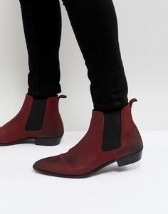 Красные кожаные ботинки челси Walk London Ziggy - Красный