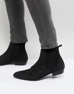 Черные кожаные ботинки челси Walk London Ziggy - Черный