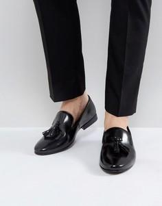 Блестящие лоферы с кисточками Walk London Strutt - Черный
