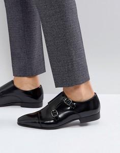 Черные туфли с ремешком в стиле монков Walk London City - Черный