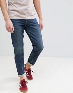 Темно-синие эластичные джинсы узкого кроя плотностью 17 унций ASOS - Синий