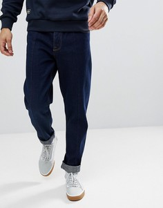 Суженные джинсы цвета индиго свободного кроя ASOS - Синий