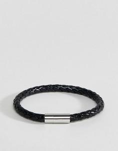 Черный кожаный браслет Paul Smith - Черный