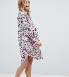 Платье-рубашка с пятнистым принтом Monki - Розовый
