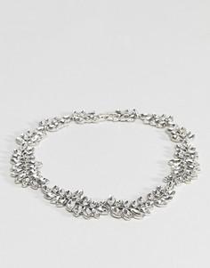 Ожерелье с кристаллами Coast - Серебряный
