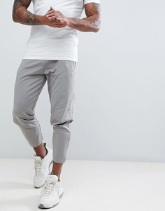 Серые облегающие укороченные джоггеры в стиле ретро с карманами на молнии ASOS - Серый
