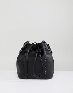 Ковбойская сумка дафл через плечо с заклепками ASOS - Черный