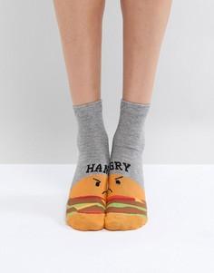 Носки с отделкой ASOS - Серый