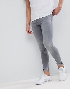 Серые выбеленные джинсы скинни Blend - Серый